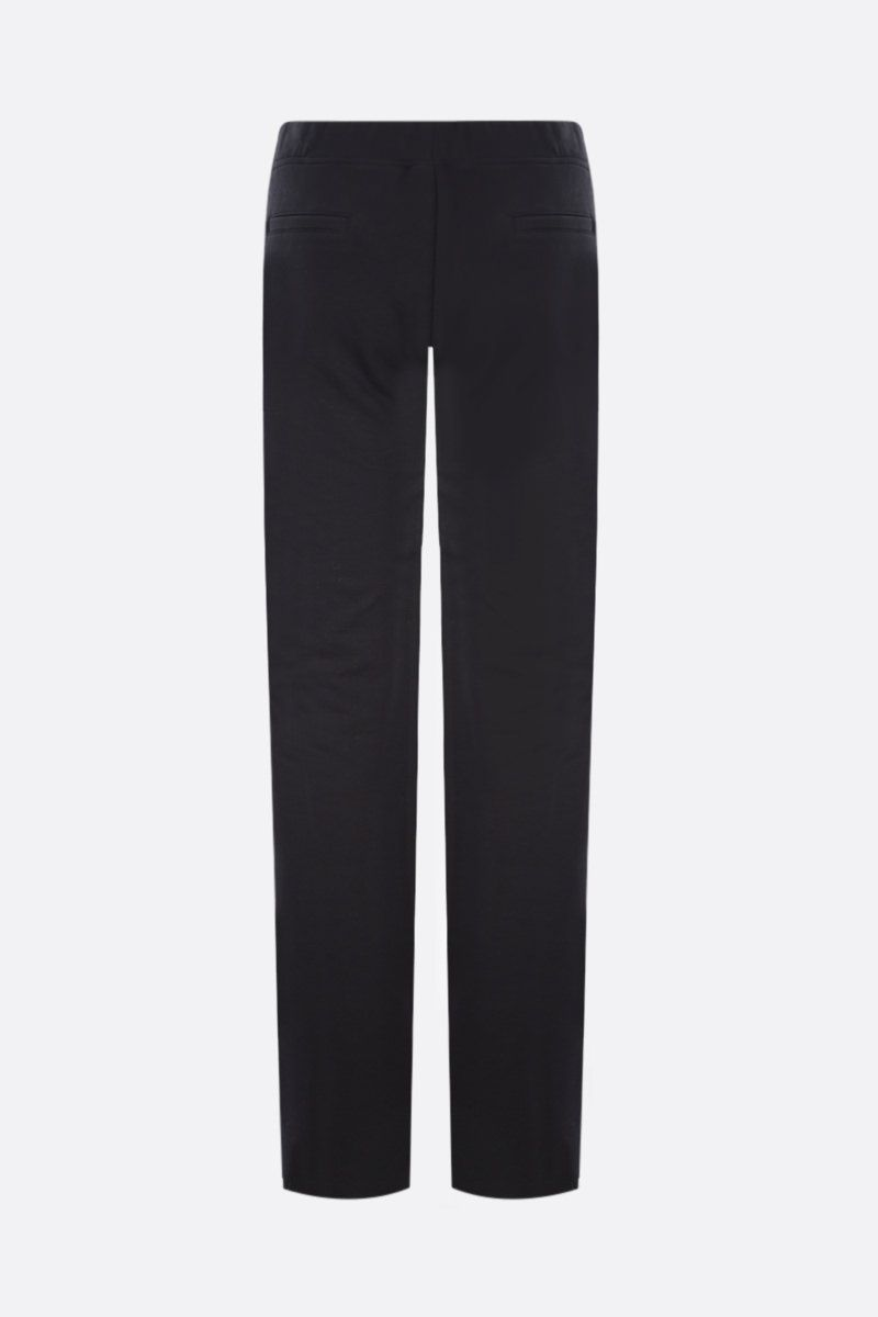 FEDERICA TOSI: jersey flared joggers Color Black_2