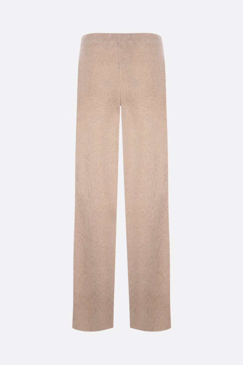 FEDERICA TOSI: wide-leg knit joggers Color Neutral_2