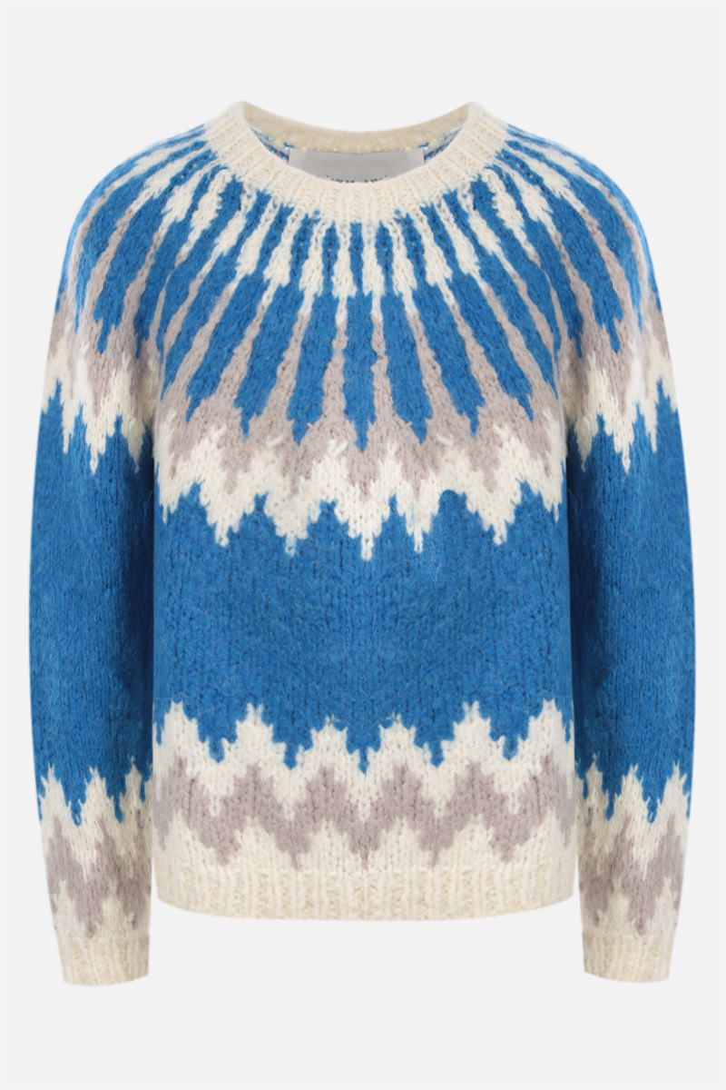 ANDERSSON BELL: pullover Nordic in misto lana Colore Blue_1