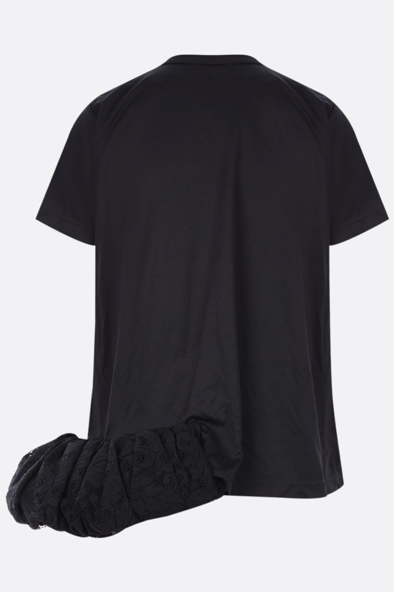 COMME des GARCONS: t-shirt in jersey con balza in pizzo Colore Black_2