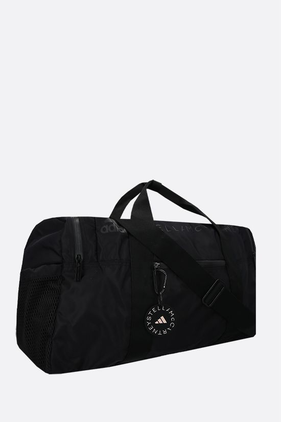 ADIDAS BY STELLA McCARTNEY: adidas by Stella McCartney Squared recycled nylon weekend bag Color Black_2