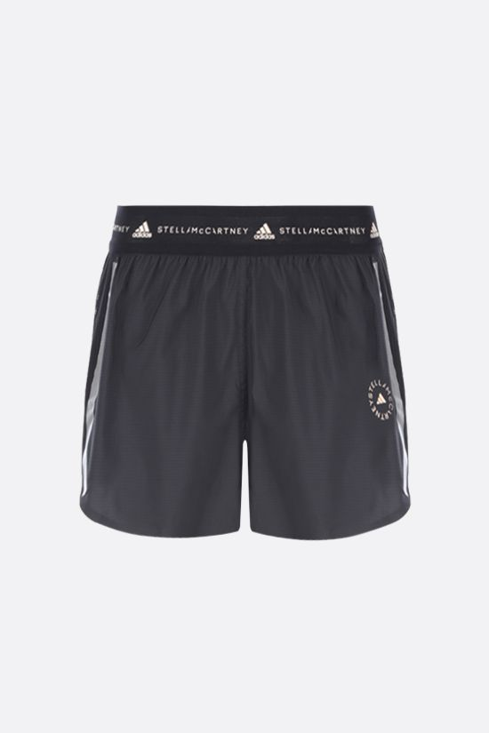 ADIDAS BY STELLA McCARTNEY: TruePace technical fabric and mesh shorts Color Black_1
