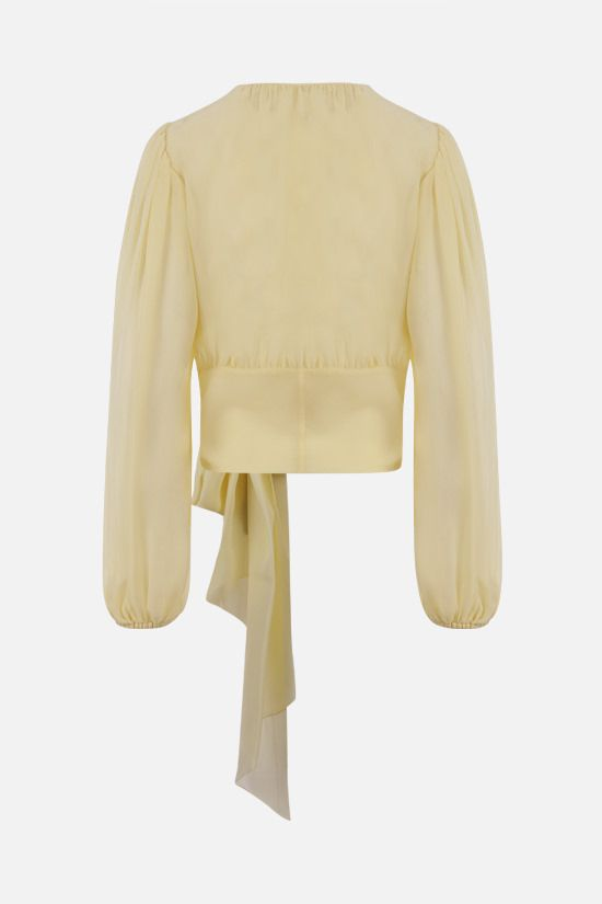 DOLCE & GABBANA: silk georgette blouse Color Yellow_2