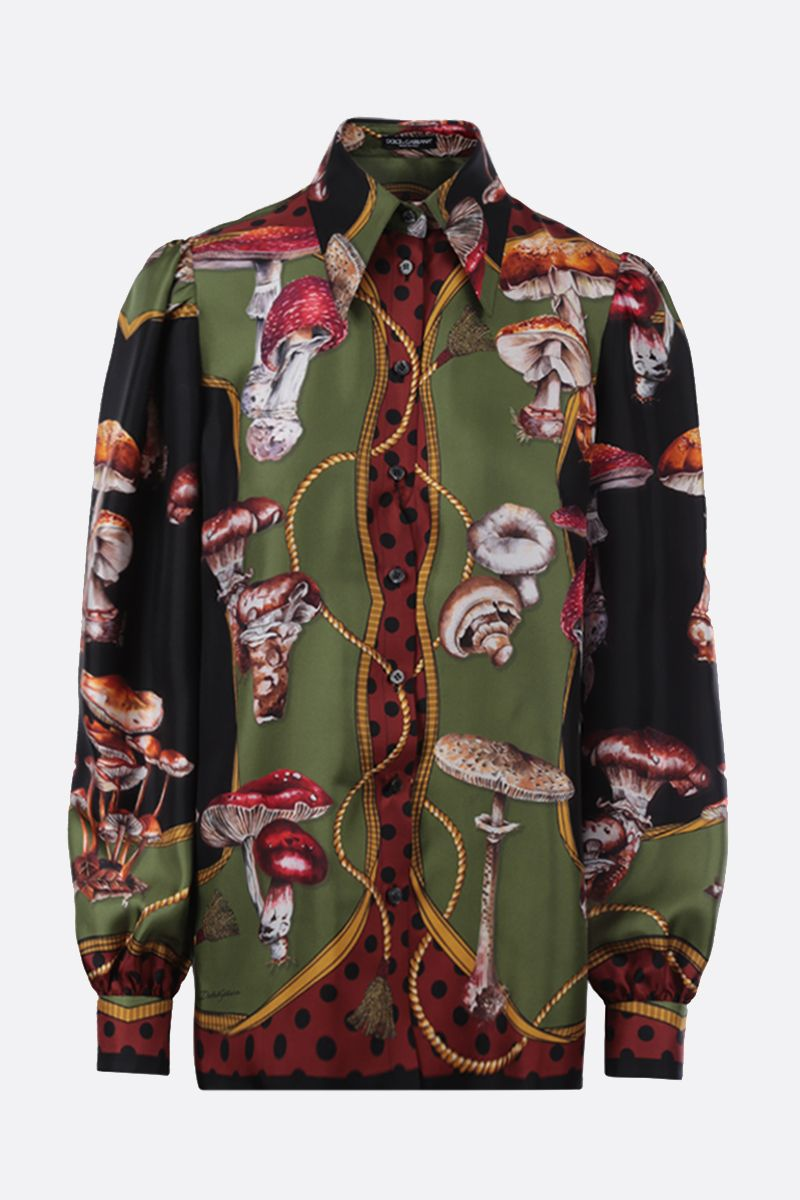 DOLCE & GABBANA: autumn print silk shirt Color Multicolor_1