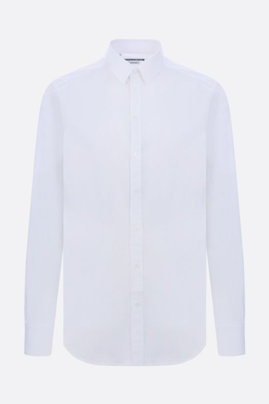DOLCE & GABBANA: gold-fit stretch cotton shirt Color White_1