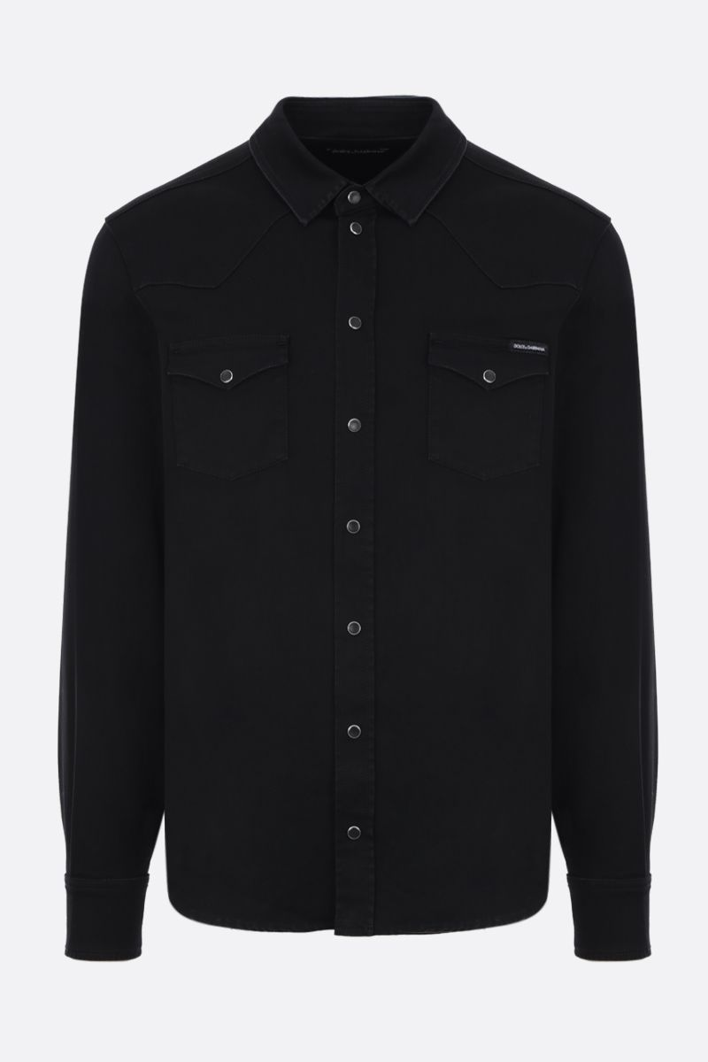 DOLCE & GABBANA: casual shirt in cotton blend Color Black_1