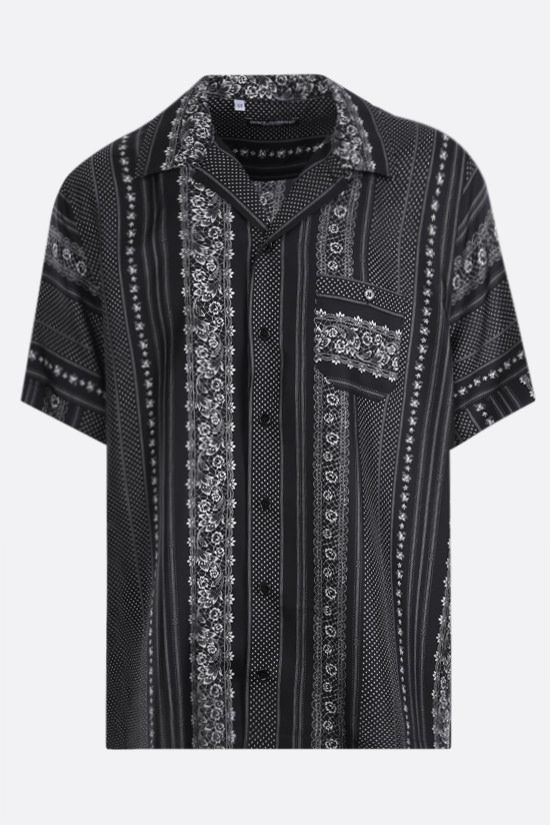 DOLCE & GABBANA: graphic print silk bowling shirt Color Multicolor_1