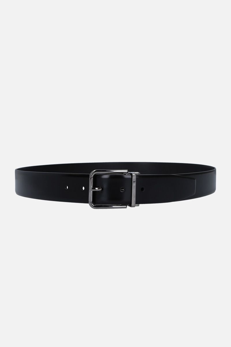 DOLCE & GABBANA: brushed calf classic belt Color Black_1