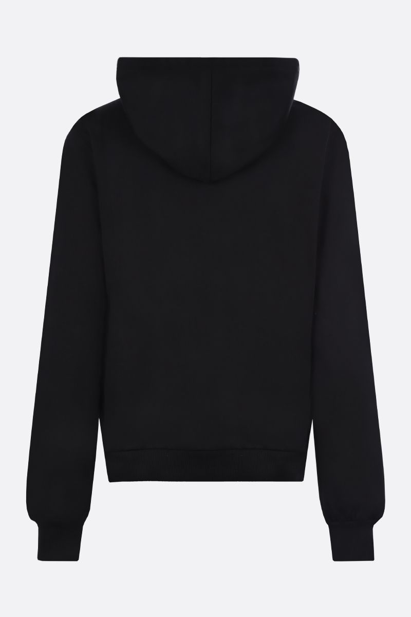 DOLCE & GABBANA: DG Crown print cotton hoodie Color Black_2
