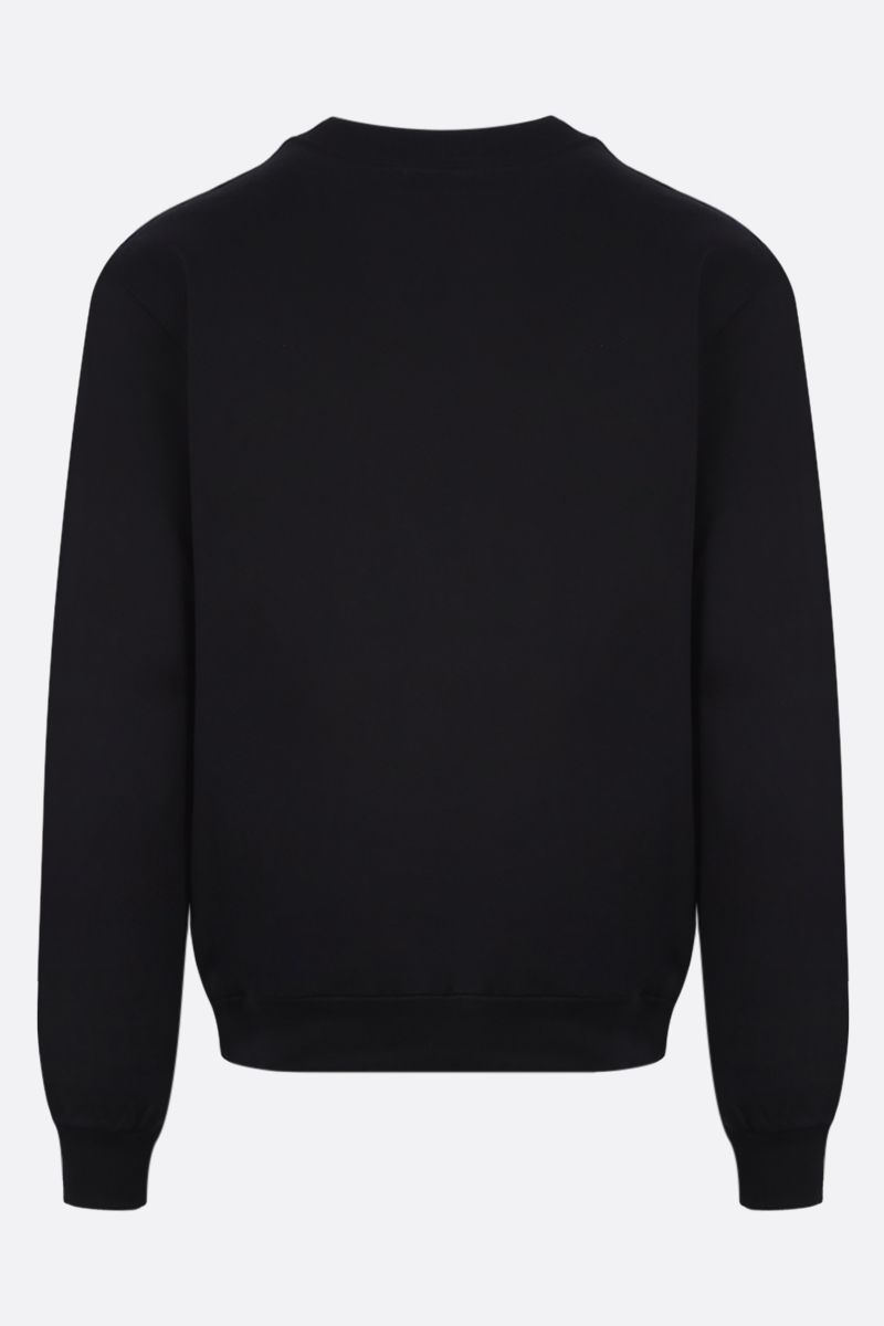 DOLCE & GABBANA: logo patch cotton sweatshirt Color Black_2