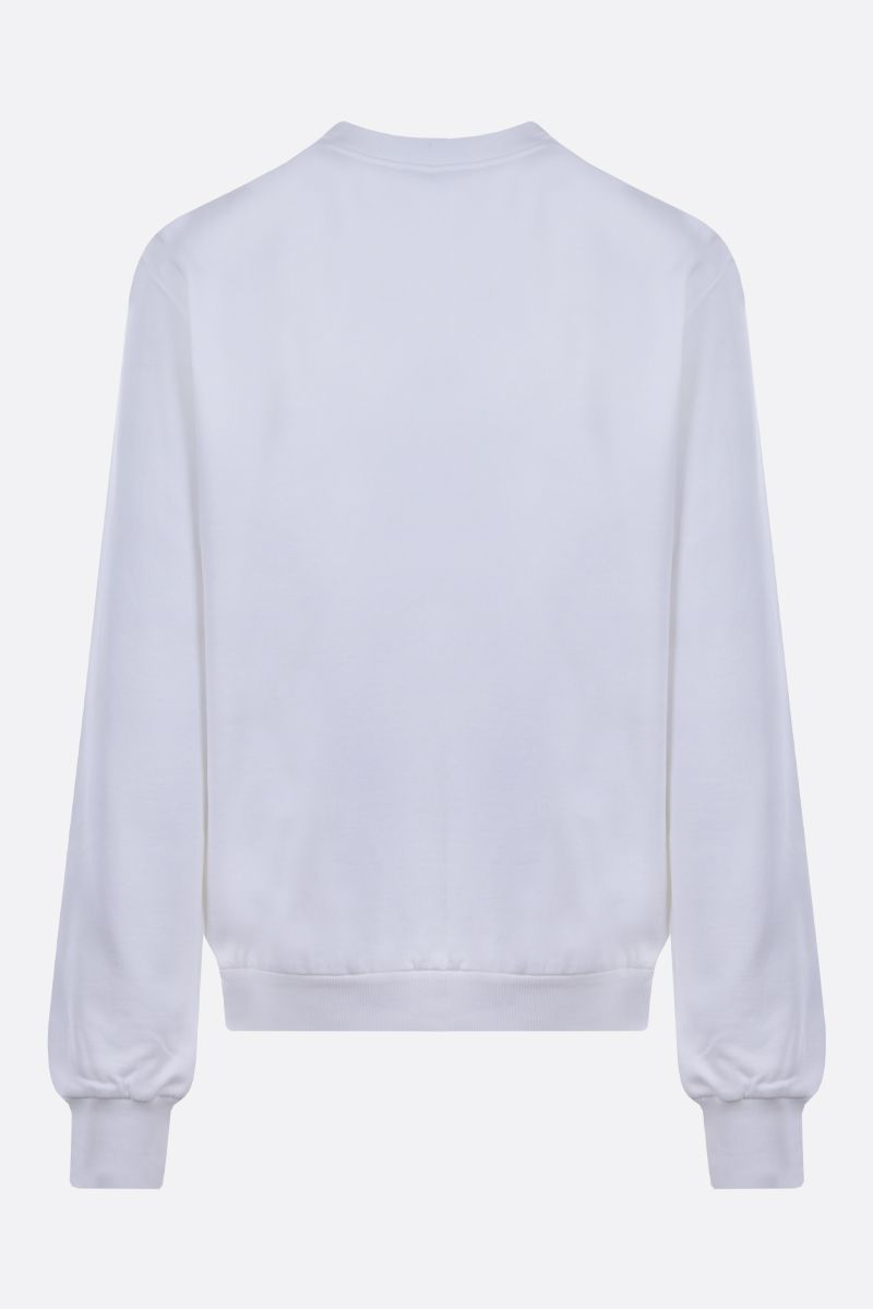 DOLCE & GABBANA: DG Crown patch cotton sweatshirt Color White_2