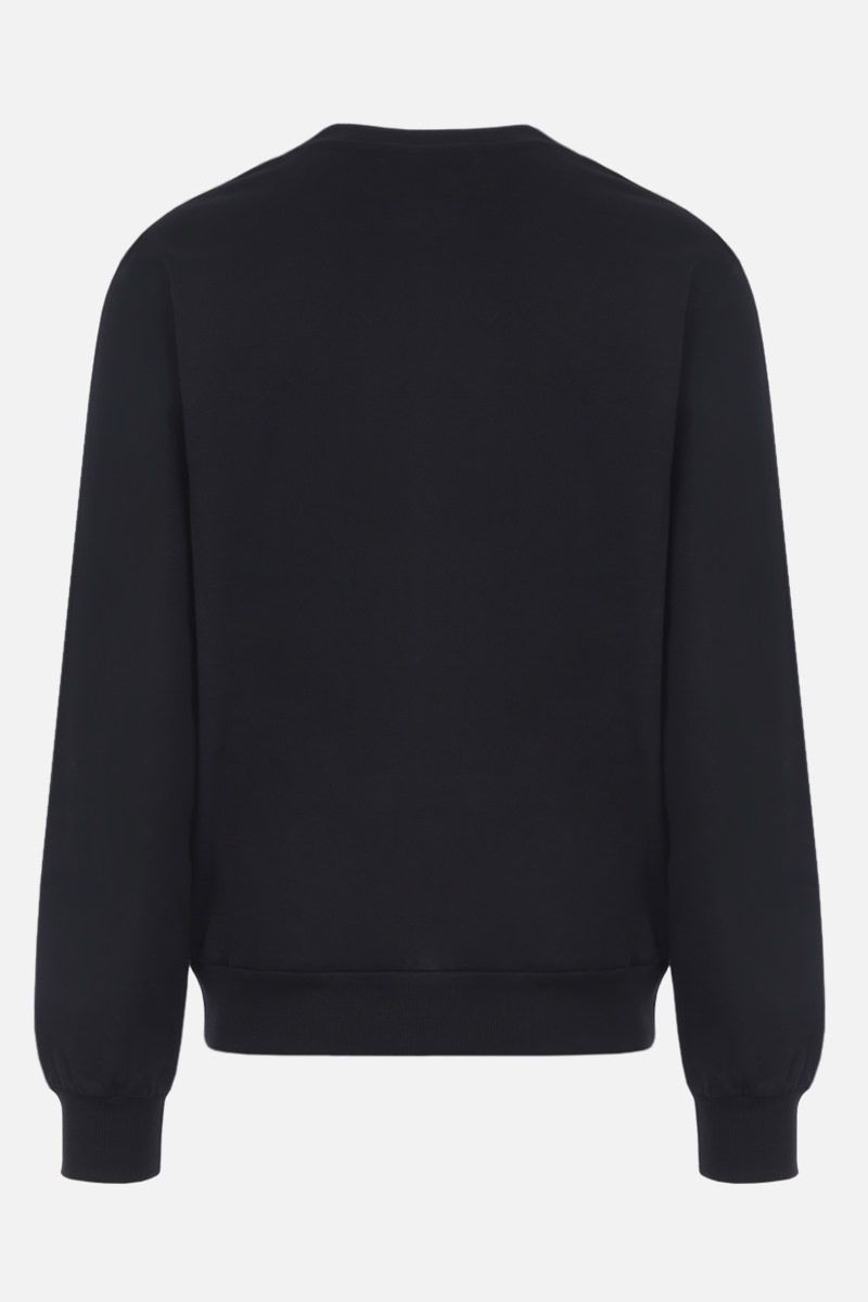DOLCE & GABBANA: DG patch cotton sweatshirt Color Black_2