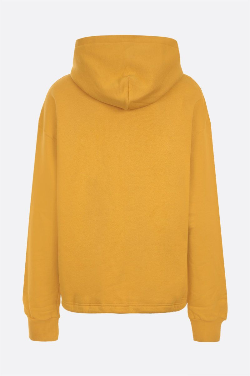 DOLCE & GABBANA: DG embroidered oversize jersey hoodie Color Neutral_2