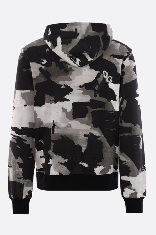 DOLCE & GABBANA: camouflage print cotton hoodie Color Multicolor_2