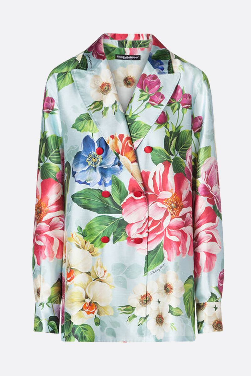 DOLCE & GABBANA: floral shantung double-breasted jacket_1