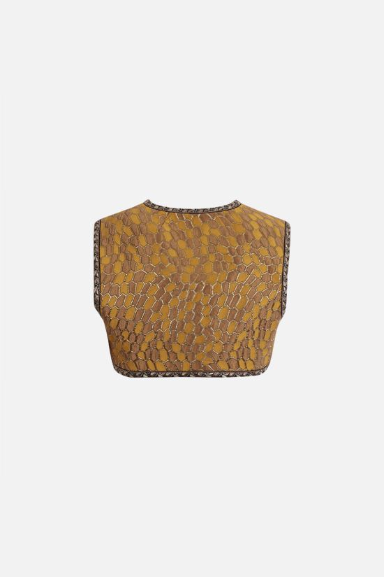 DOLCE & GABBANA: lurex jacquard cropped vest Color Multicolor_2
