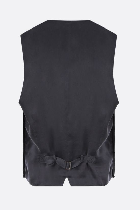 DOLCE & GABBANA: double-breasted corduroy waistcoat Color Black_2