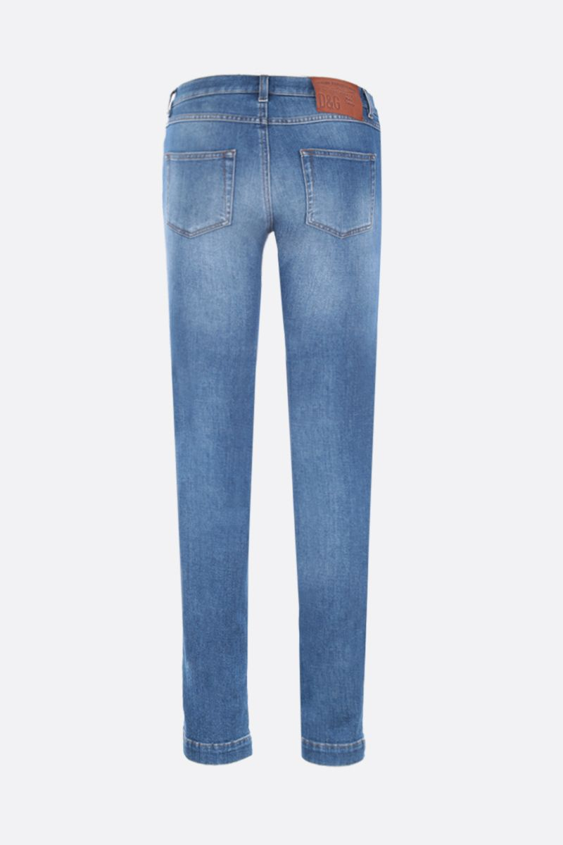 DOLCE & GABBANA: Girly jeans Color Blue_2