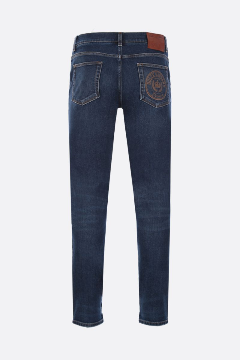 DOLCE & GABBANA: slim jeans with distressed effect Color Blue_2