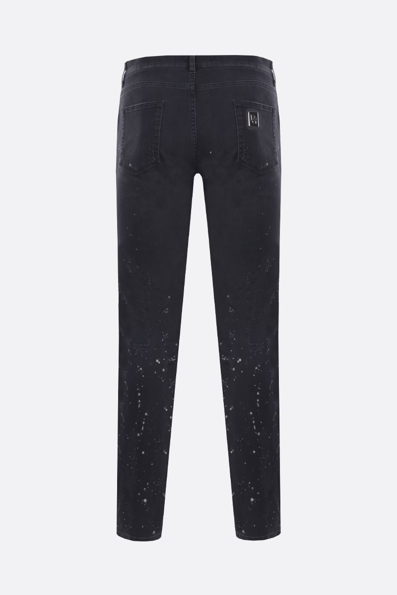 DOLCE & GABBANA: slim jeans with distressed effect Color Black_2