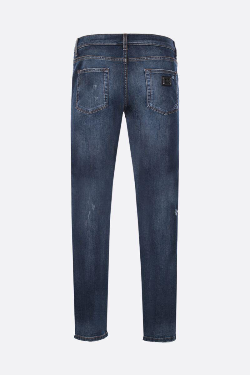 DOLCE & GABBANA: skinny jeans with distressed effect Color Blue_2