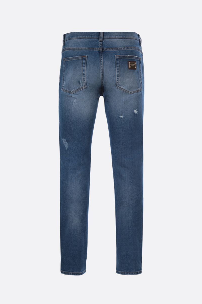 DOLCE & GABBANA: distressed-effect skinny jeans Color Blue_2