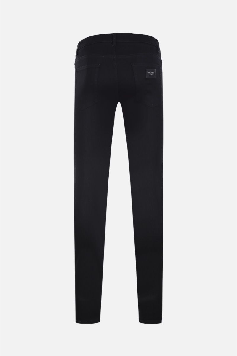 DOLCE & GABBANA: running-fit jeans Color Black_2
