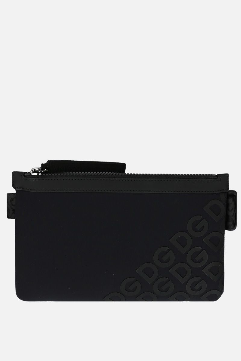 DOLCE & GABBANA: DG Mania belt bag in neoprene Color Black_1