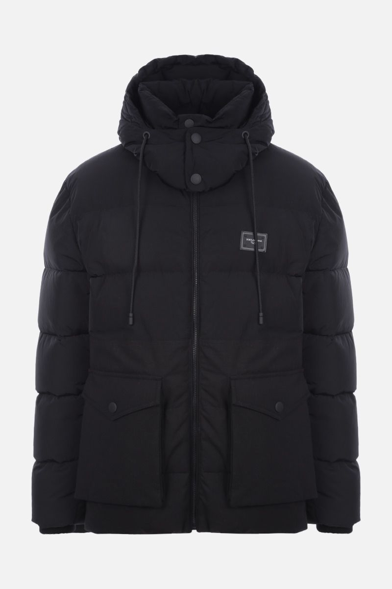 DOLCE & GABBANA: nylon and cotton ripstop down jacket Color Black_1
