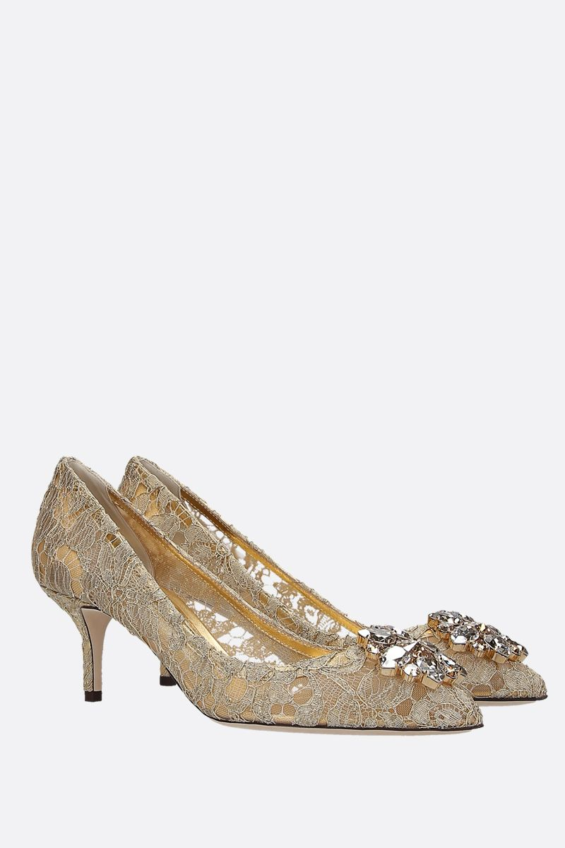 DOLCE & GABBANA: Bellucci pumps in Taormina lace with crystals Color Gold_3