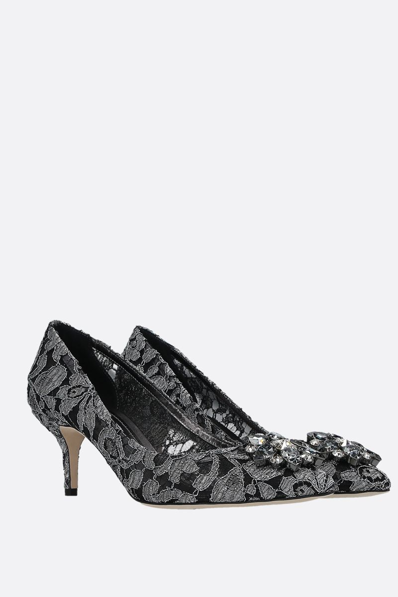 DOLCE & GABBANA: Bwllucci pumps in Taormina lace Color Grey_2