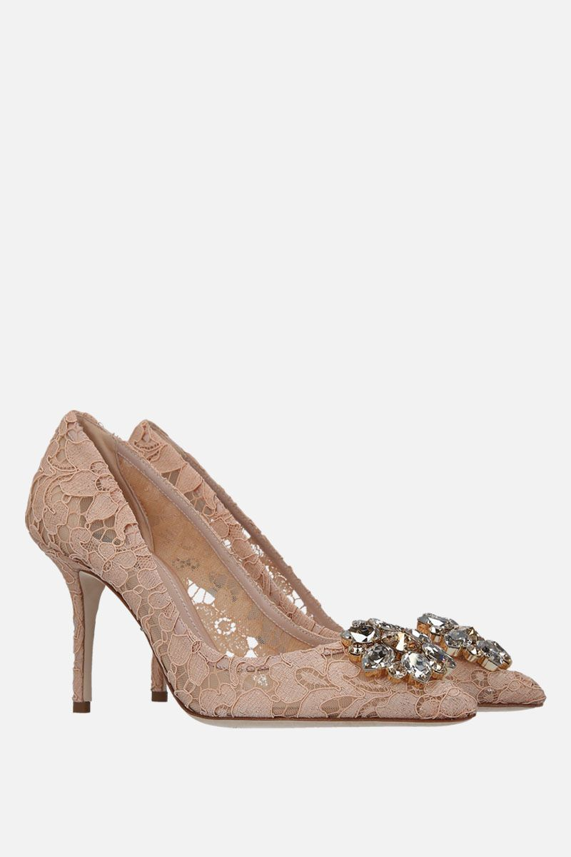 DOLCE & GABBANA: Bellucci pumps in Taormina lace with crystals Color Red_2