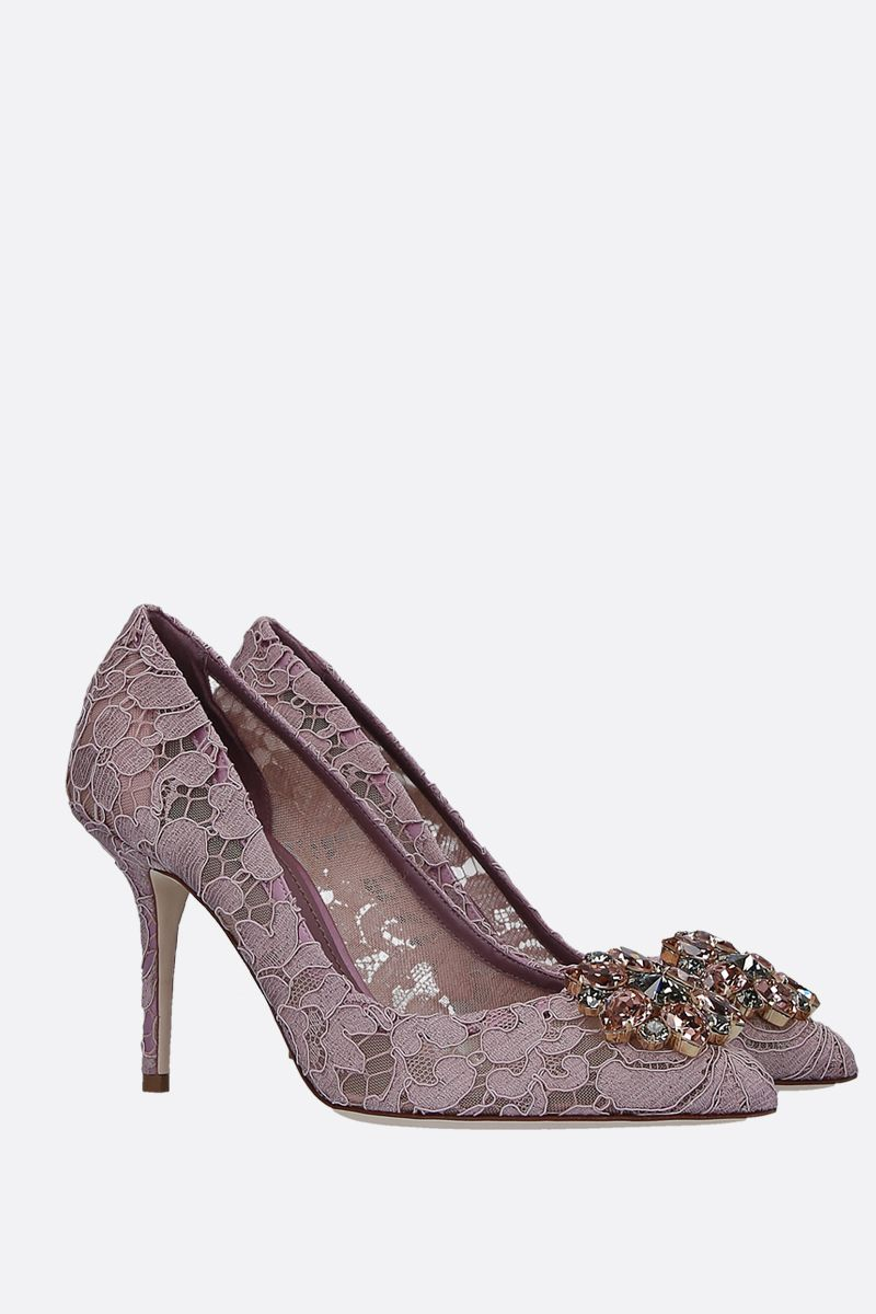 DOLCE & GABBANA: Bellucci pumps in Taormina lace with crystals_2