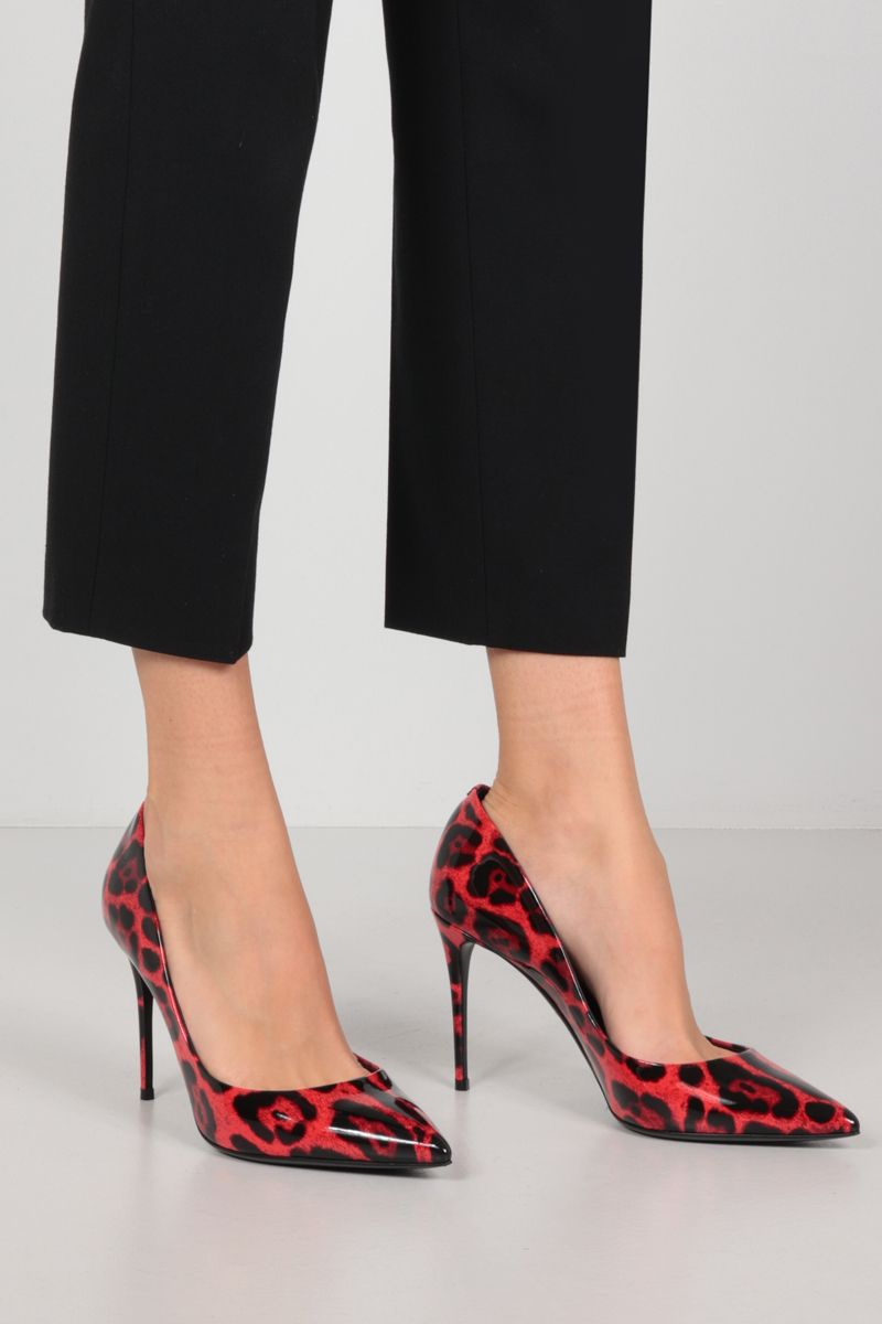 DOLCE & GABBANA: leopard printed patent leather pumps Color Animalier_2
