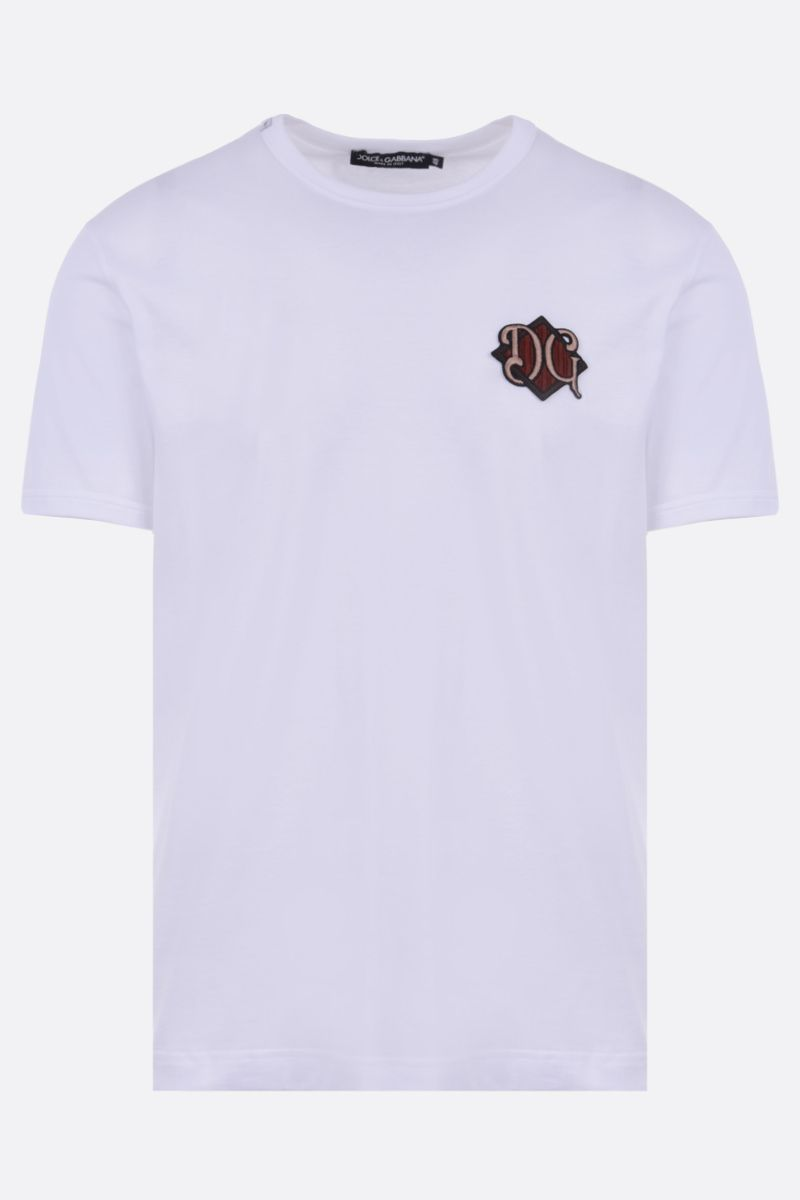 DOLCE & GABBANA: DG patch cotton t-shirt Color White_1
