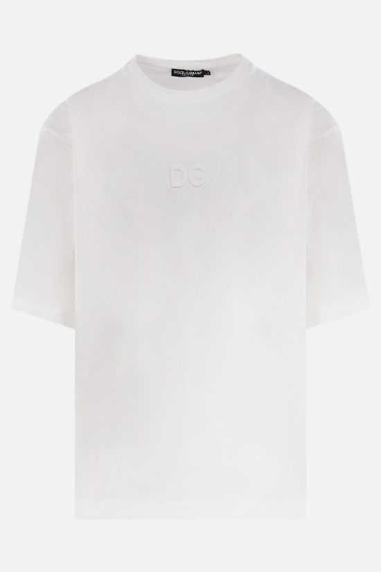 DOLCE & GABBANA: logo-detailed oversize cotton t-shirt Color White_1