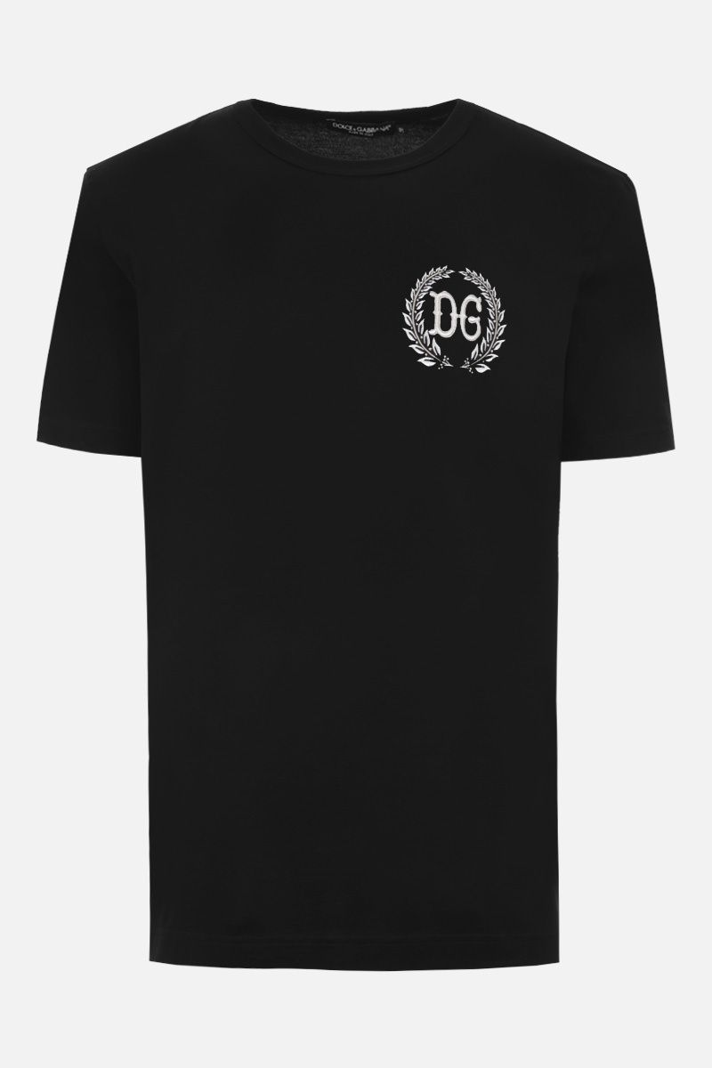 DOLCE & GABBANA: DG patch cotton t-shirt Color Black_1