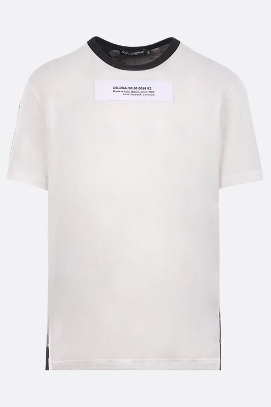 DOLCE & GABBANA: DG. DNA patch bicolour cotton t-shirt Color Multicolor_1