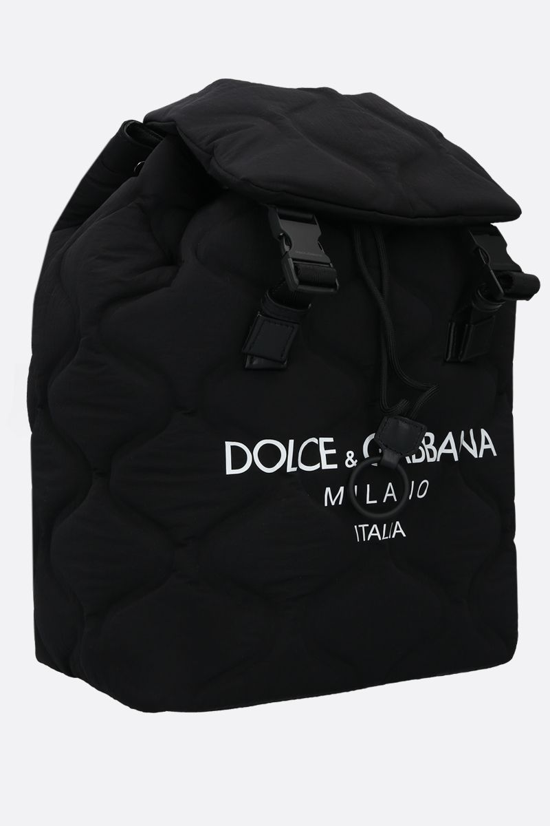DOLCE & GABBANA: Palermo Tecnico nylon backpack Color Black_2