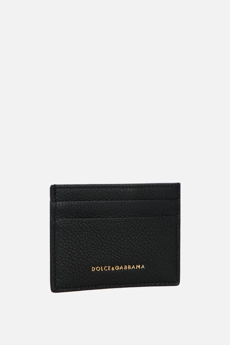 DOLCE & GABBANA: grainy leather card case Color Black_2