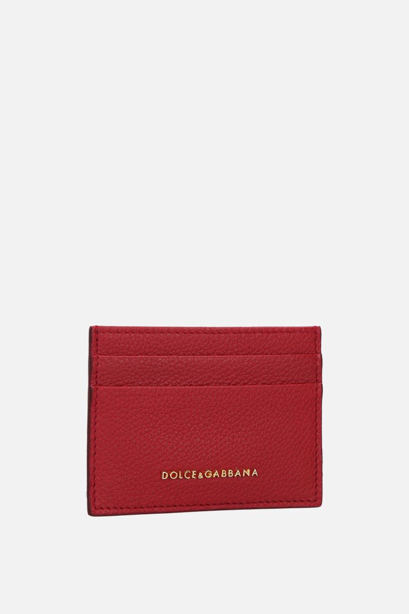 DOLCE & GABBANA: grainy leather card case Color Red_2