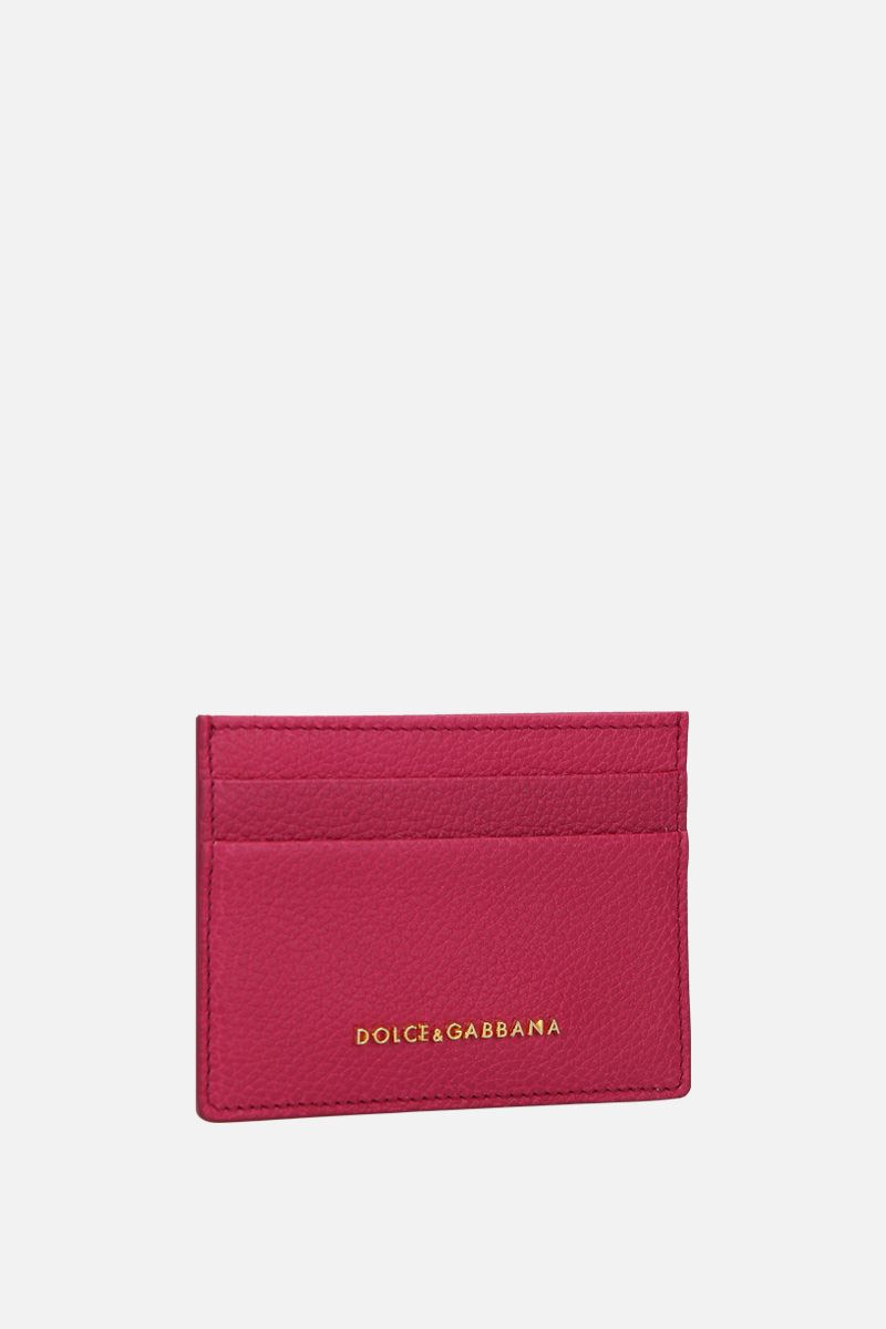 DOLCE & GABBANA: grainy leather card case Color Pink_2