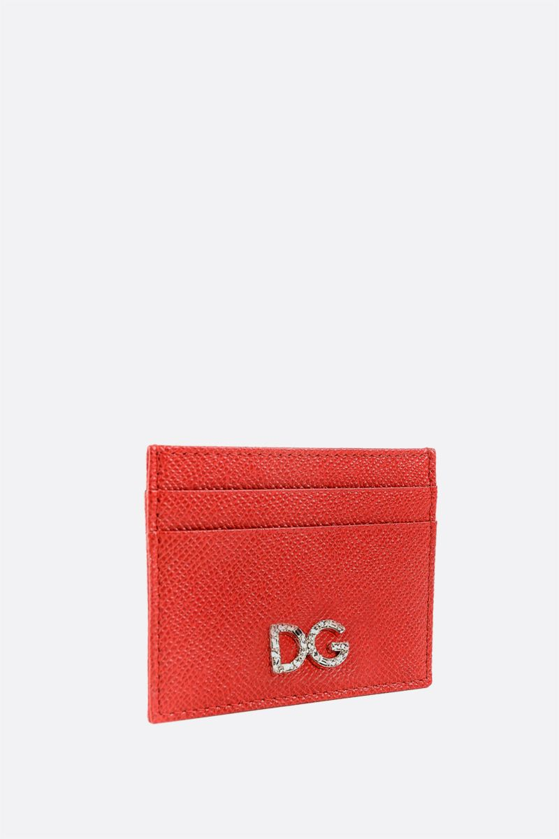 DOLCE & GABBANA: Dauphine leather card case Color Red_2