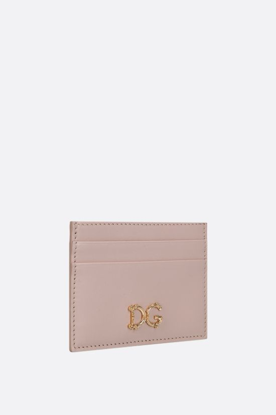 DOLCE & GABBANA: DG-detailed smooth leather card case Color Neutral_2