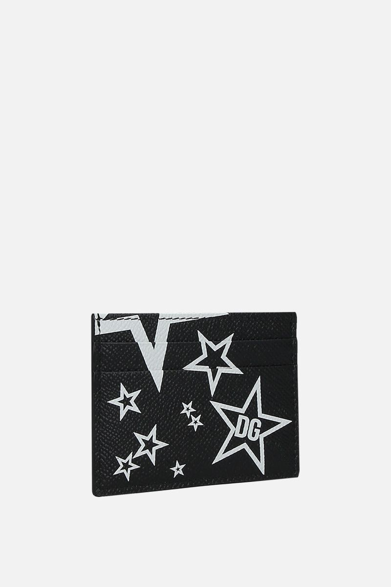 DOLCE & GABBANA: Mixed Star print Dauphine leather billfold wallet_2