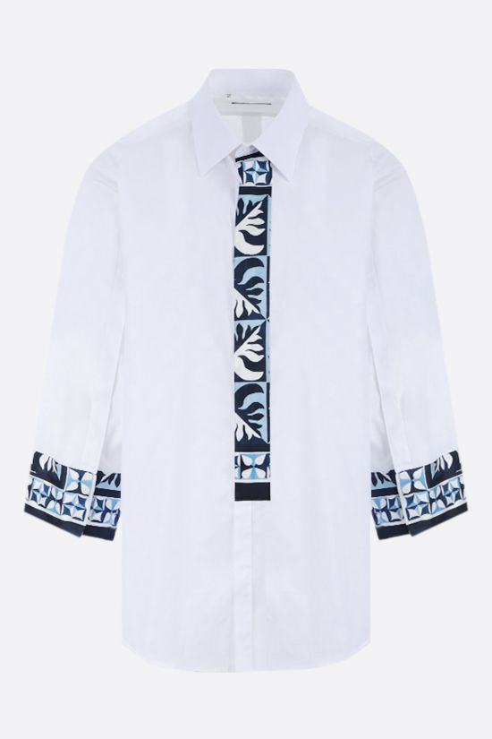 DOLCE & GABBANA: Majolica-detailed jacquard shirt Color White_1