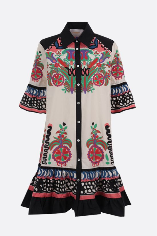 LA DOUBLE J: Choux cotton shirt dress Color Multicolor_1