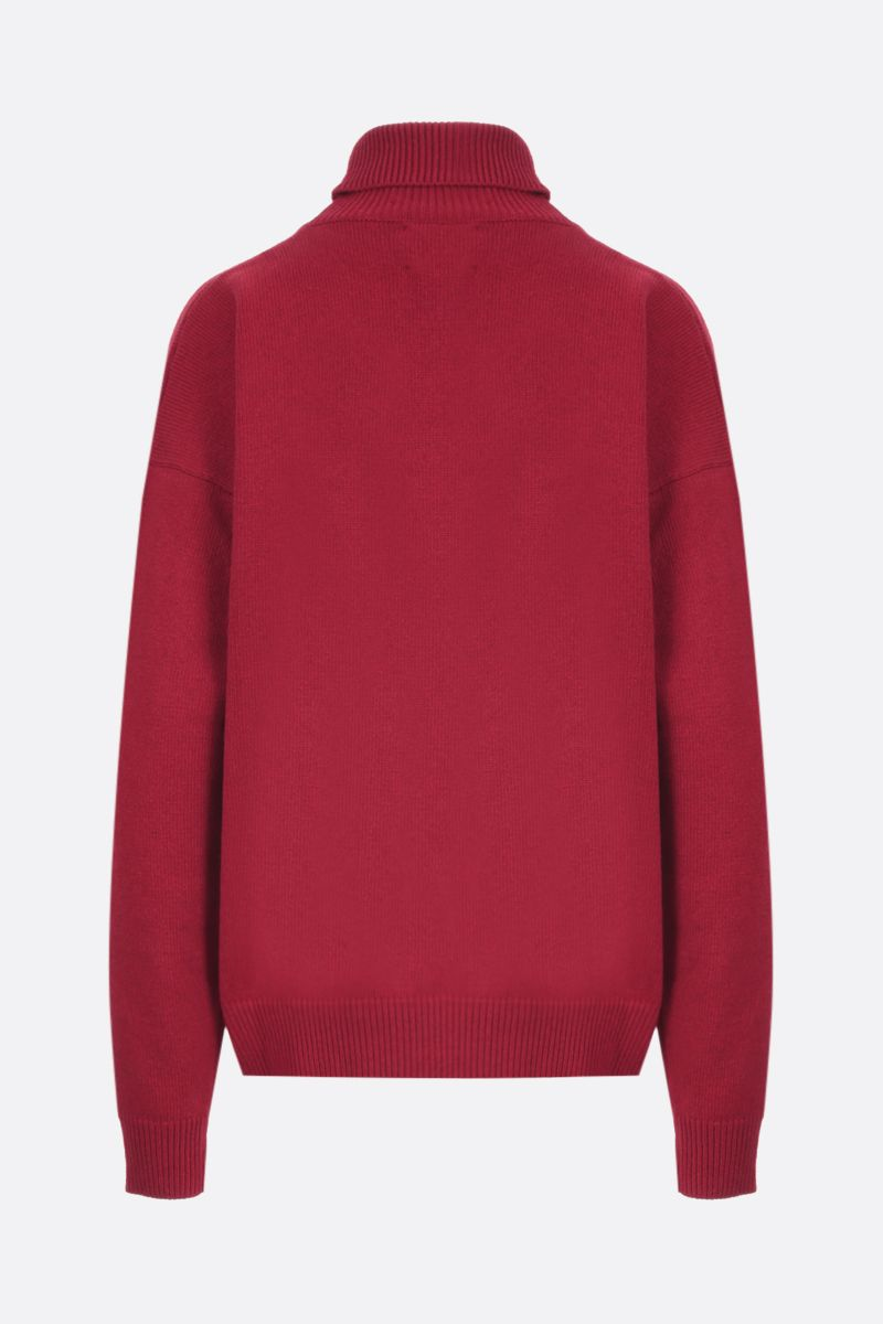 LA DOUBLE J: Boy wool blend pullover Color Red_2
