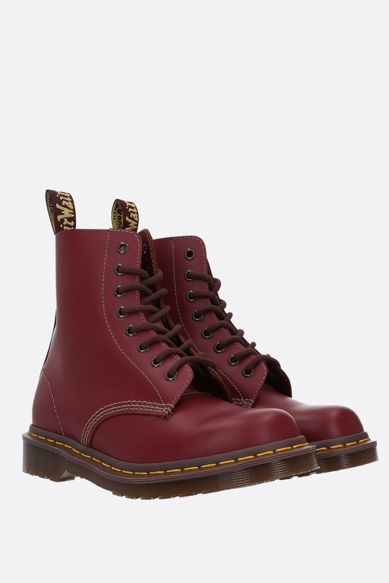 DR. MARTENS: anfibio 1460 in pelle liscia Colore Red_2