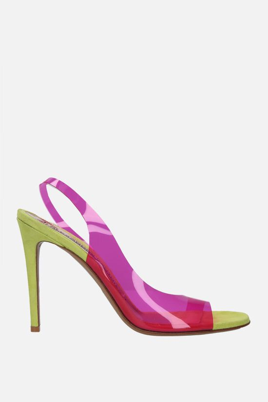 ALEXANDRE VAUTHIER: Amber Ghost transparent PVC sandals Color Purple_1